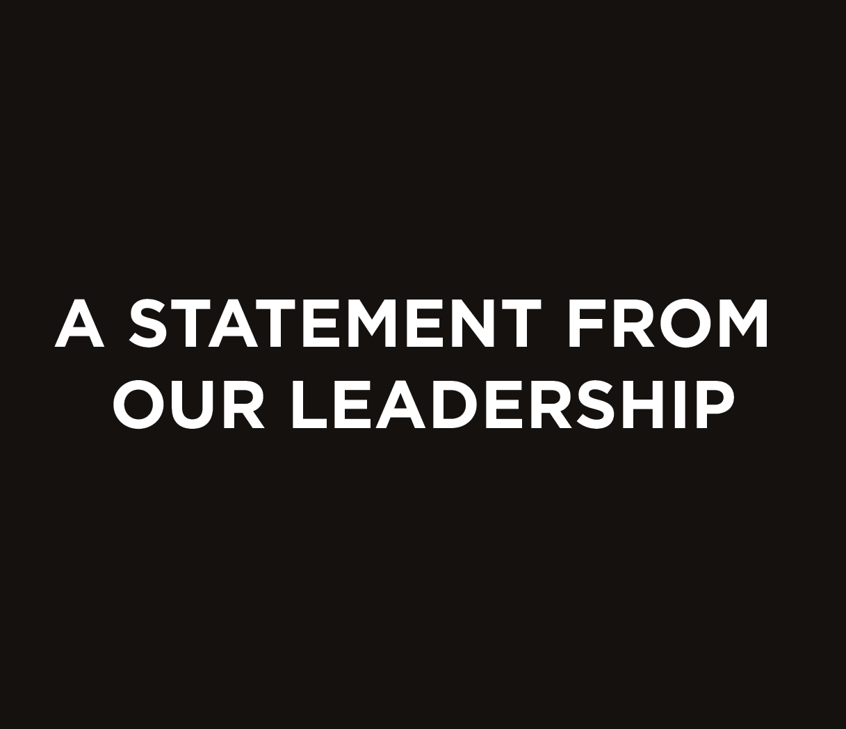 A Statement From Our Leadership on Anti-Racism and Homebound Ep. 6
